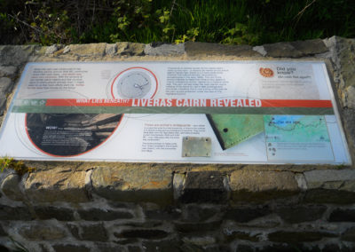 Liveras Cairn panel at the trail