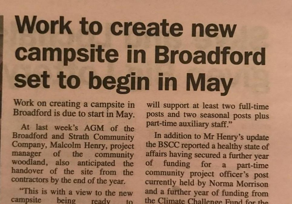News from the Broadford and Strath Community Company AGM