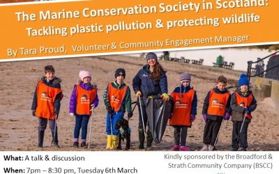 Tara Proud talking about plastic pollution and protecting wildlife