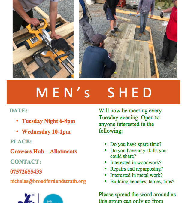 Men's Shed at the Growers Hub