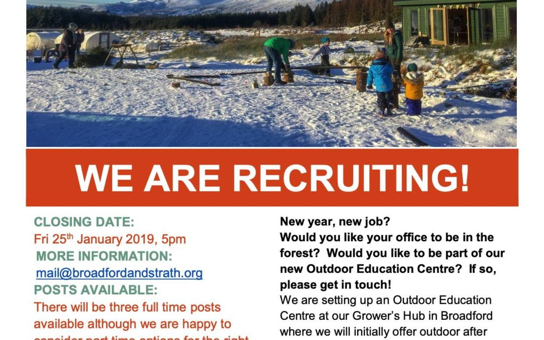 Outdoor Education opportunities at Broadford and Strath Community Company