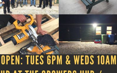 Men's Shed every Mon 10:30 – 14:00, Wed 10:30 – 14:00 and Sat 14:00 – 17:00