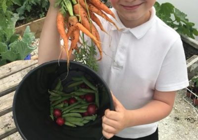 The Allotment's water boy with his own produce