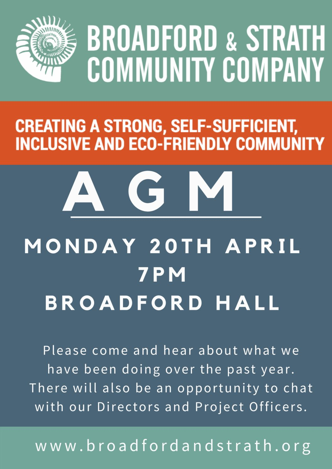 Annual General Meeting – 20th April 7pm